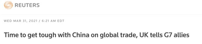 算盘打真响!英贸易大臣G7视频会前敦促对中强硬 称WTO如不改革会被替代图片