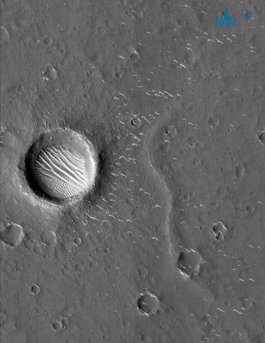 天问一号拍下高清火星照!中国航天重磅消息频传图片