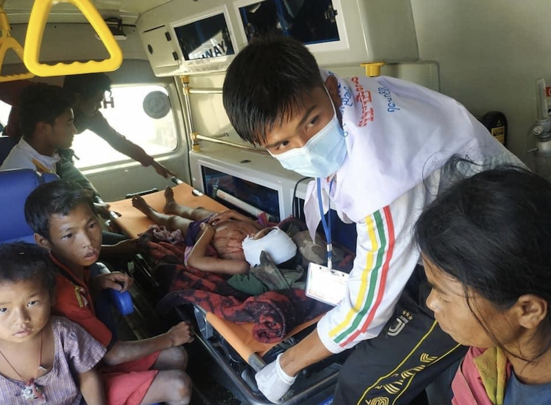 缅甸若开邦一枚遗留炸弹爆炸 两名儿童受伤