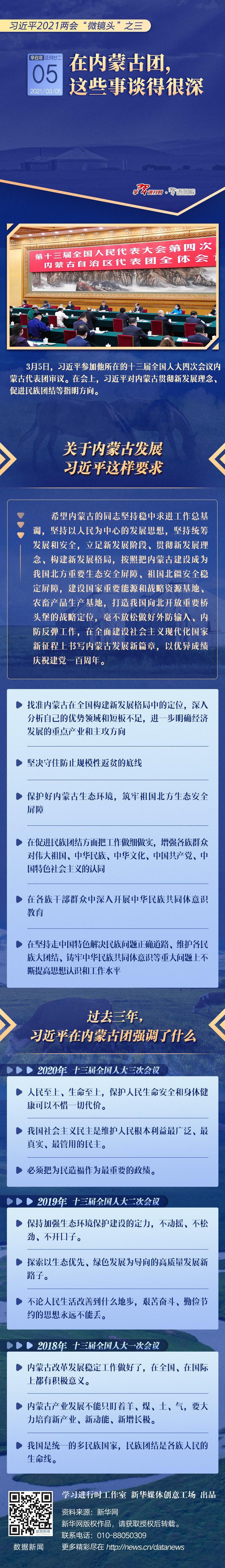 """习近平2021两会""""微镜头""""之三:3月5日 在内蒙古团 这些事谈得很深图片"""