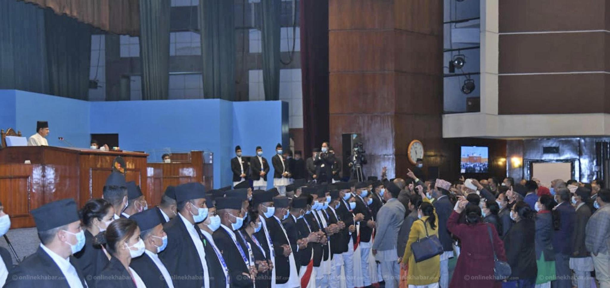 尼泊尔众议院重启后首次会议遭多派抵制 被迫推迟