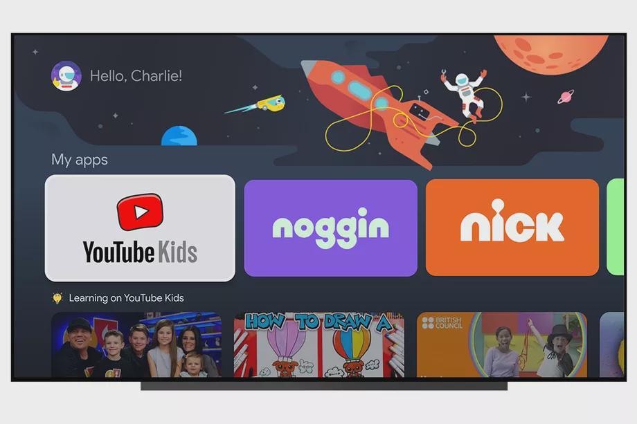 谷歌将在其Google TV中为儿童单独设置档案以方便家长控制
