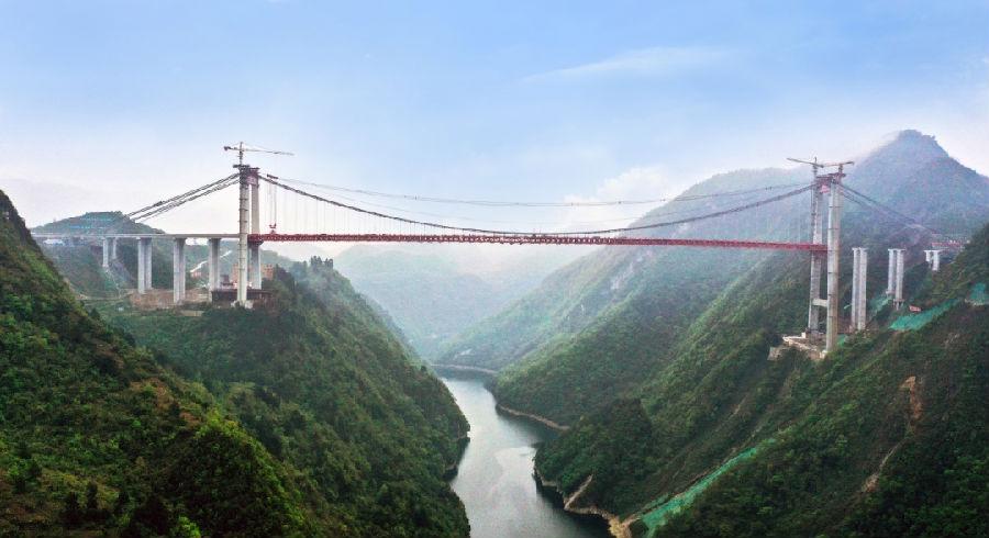 贵阳至黄平高速阳宝山特大桥顺利合龙图片