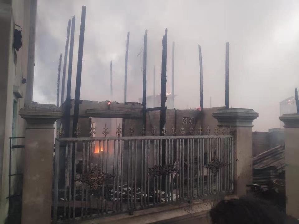 缅甸曼德勒一镇区一周之内发生两次火灾
