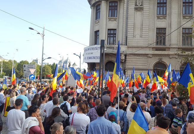 罗马尼亚上千人游行示威 抗议政府防疫措施