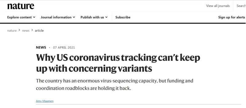 《自然》杂志披露美卫生系统成新冠科研工作绊脚石