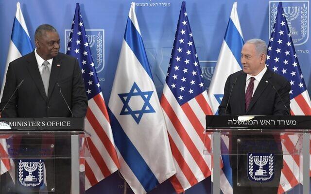 以色列总理与美国国防部长举行会谈