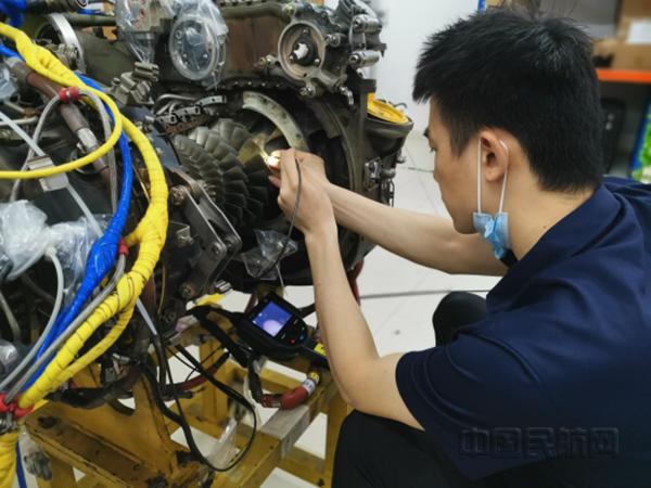南航通航独立完成CT7-8发动机压气机叶片修理
