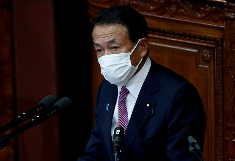 """麻生太郎用无赖逻辑回应中国外交官批评,台湾网友都说他""""无耻""""图片"""