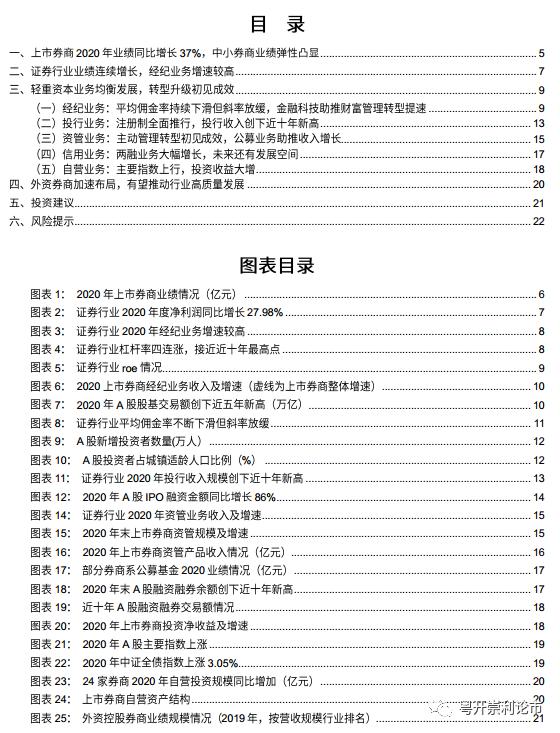粤开非银:上市券商2020年业绩同比增长37% 中小券商业绩弹性凸显