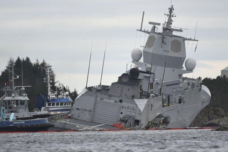 调查报告显示:挪威撞船沉没护卫舰本有抢救机会