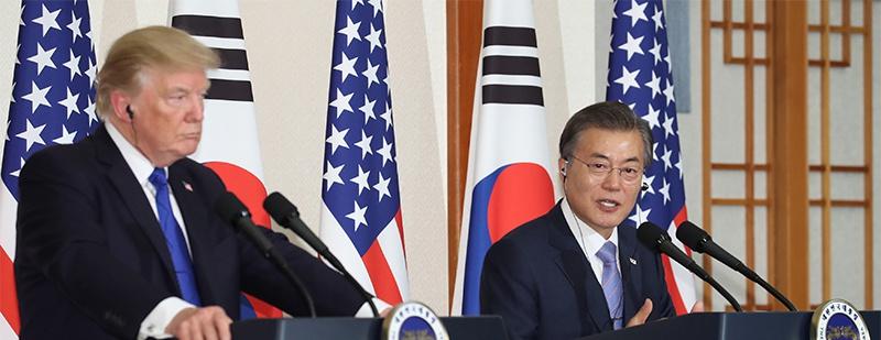 文在寅和特朗普为朝鲜隔空吵起来了