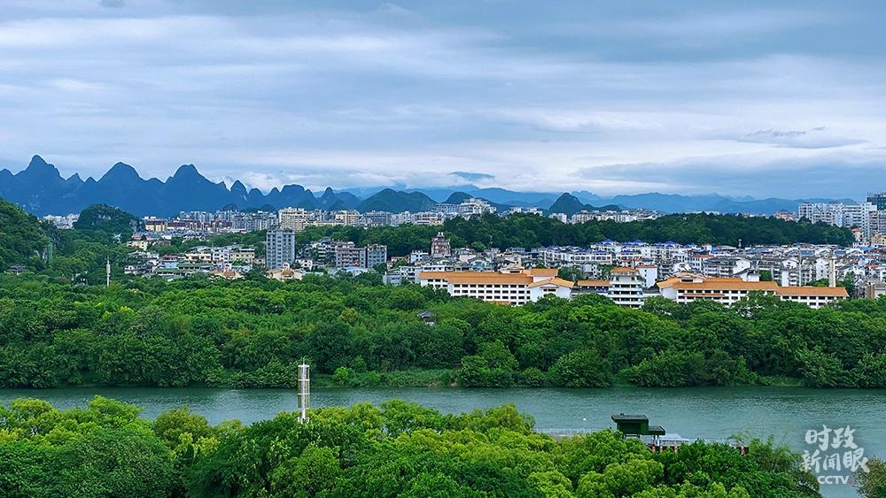△桂林市有12个天然珍爱区,丛林笼罩率跨越70%。(总台央视记者张宇拍摄)