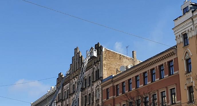 拉脱维亚首都里加发生大火 8人丧生