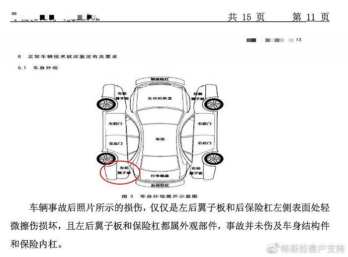 """特斯拉回应销售""""事故二手车"""":该车只涉及车身外观更换,不存在结构性损伤"""