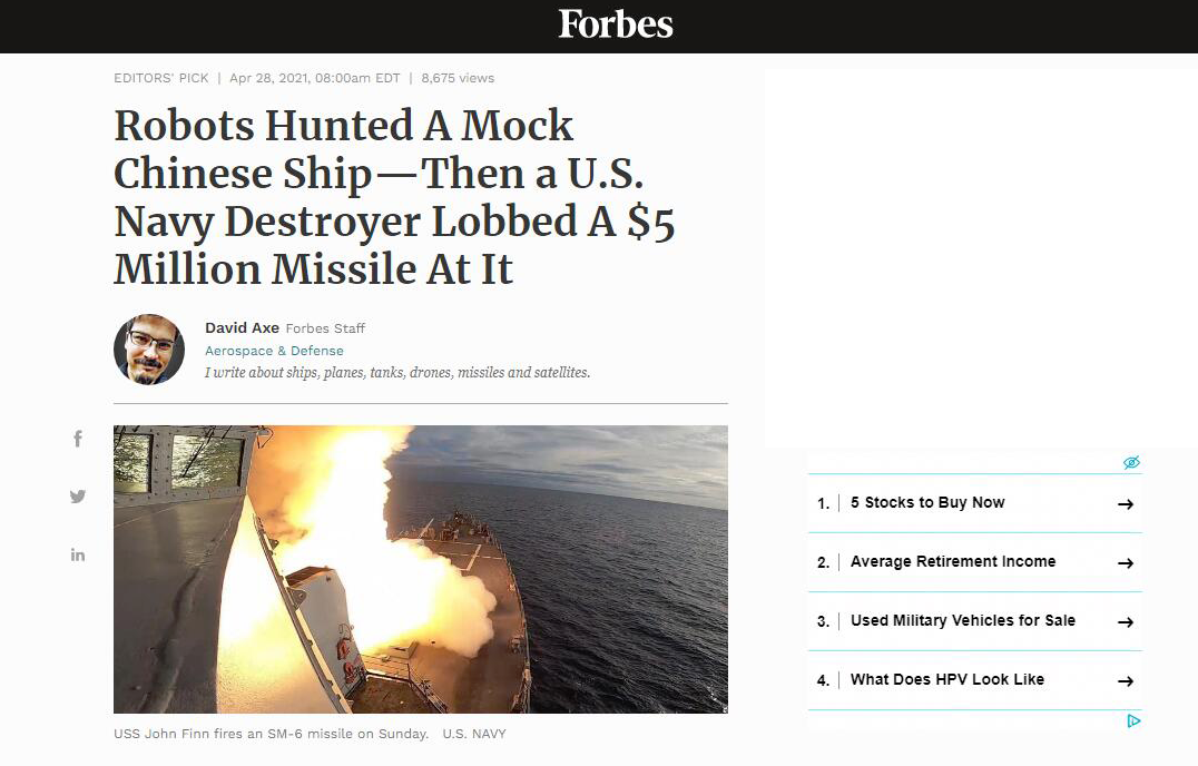 美国海军进行一项史无前例演习 美媒炒作:展示如何与中国舰队作战