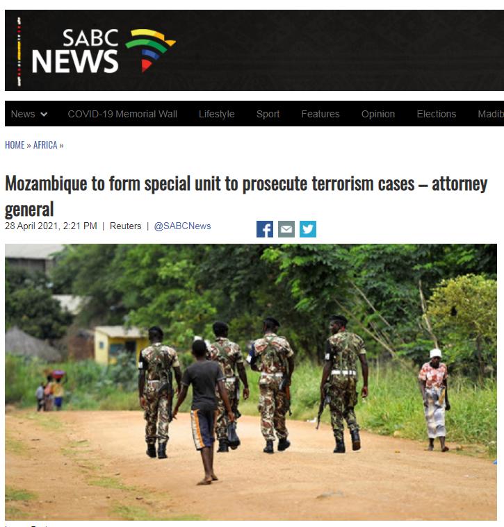 莫桑比克成立特别机构起诉恐怖主义案件