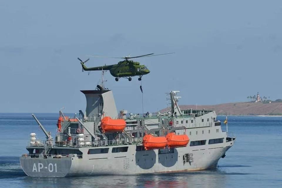 缅甸海军举行为期八天的海上军演