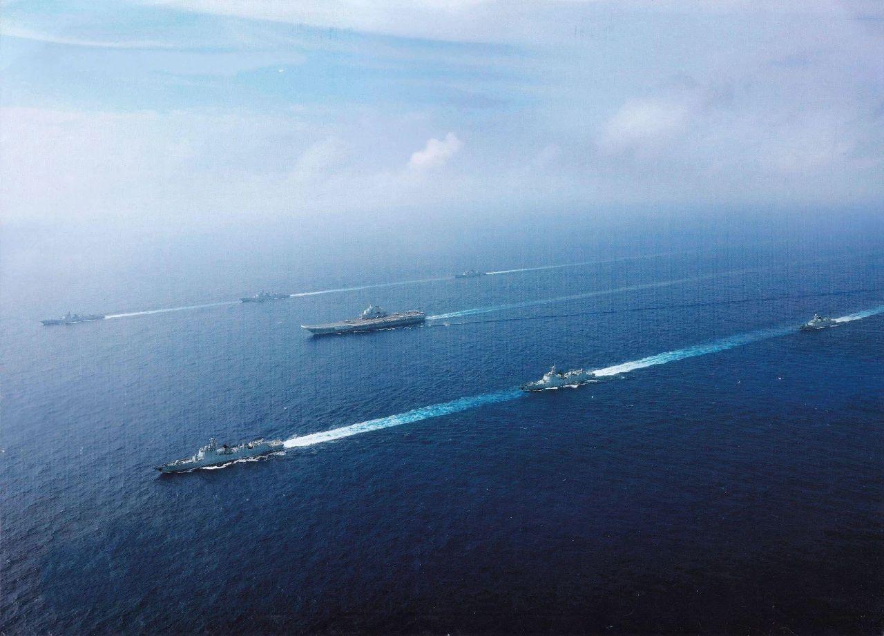 台媒:辽宁舰编队现身台湾东部 对台形成半个包围圈