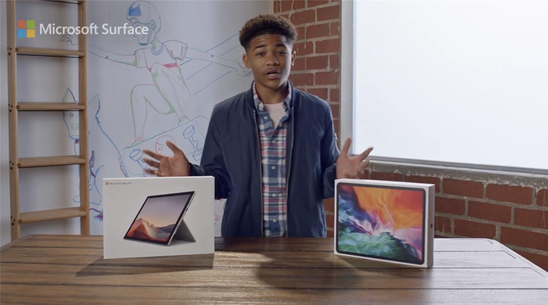 微软新广告宣传Surface Pro 7,全面超过苹果iPad Pro
