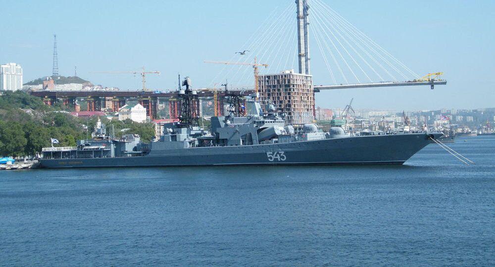 """俄军经典反潜驱逐舰""""变身"""":首射巡航导弹击中上千公里外陆地目标"""
