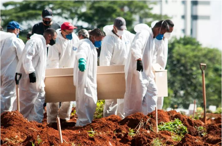 巴西圣保罗州单日新增死亡病例数再破纪录