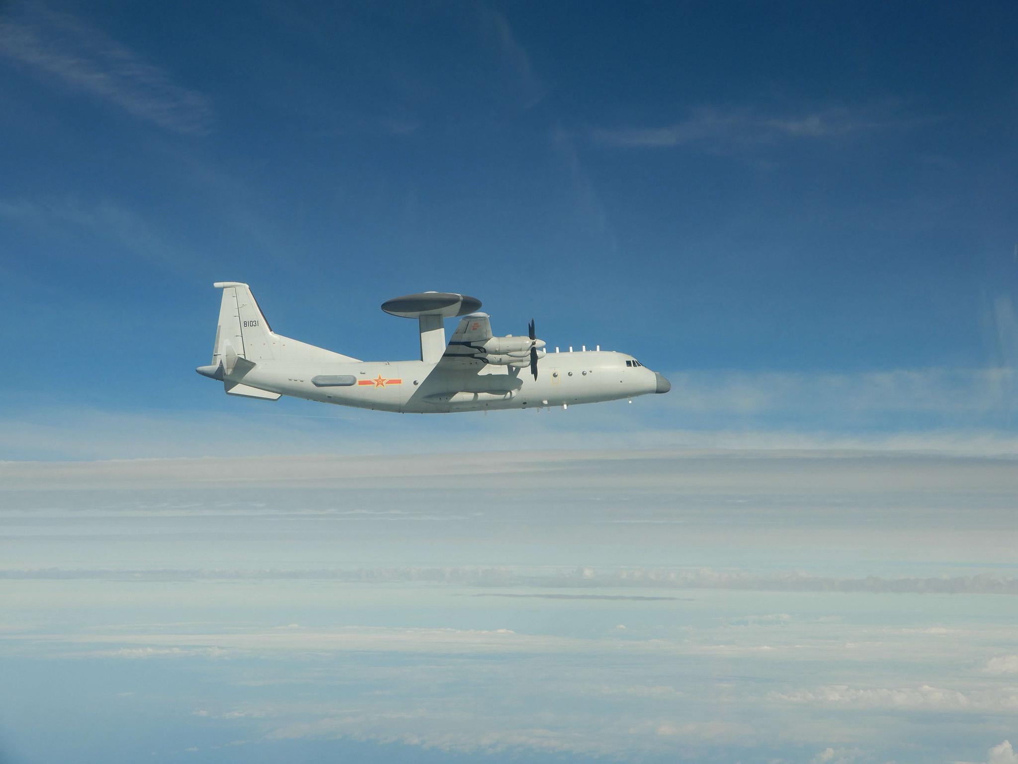 我军机今天两度进入台湾西南空域 台军
