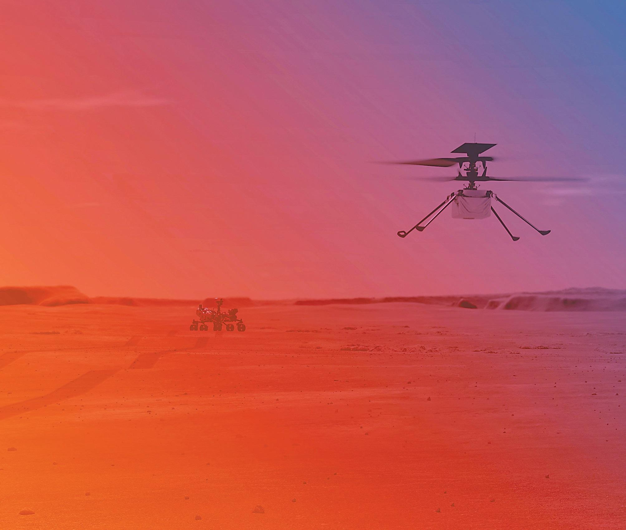 """美""""机智""""号直升机将在火星首次试飞 难度有多大?"""
