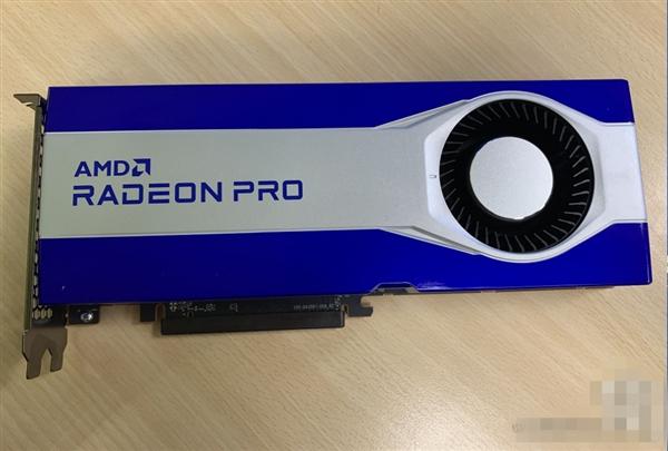 AMD RDNA2专业卡初次现身:蓝白颜值照旧、暴力涡轮电扇