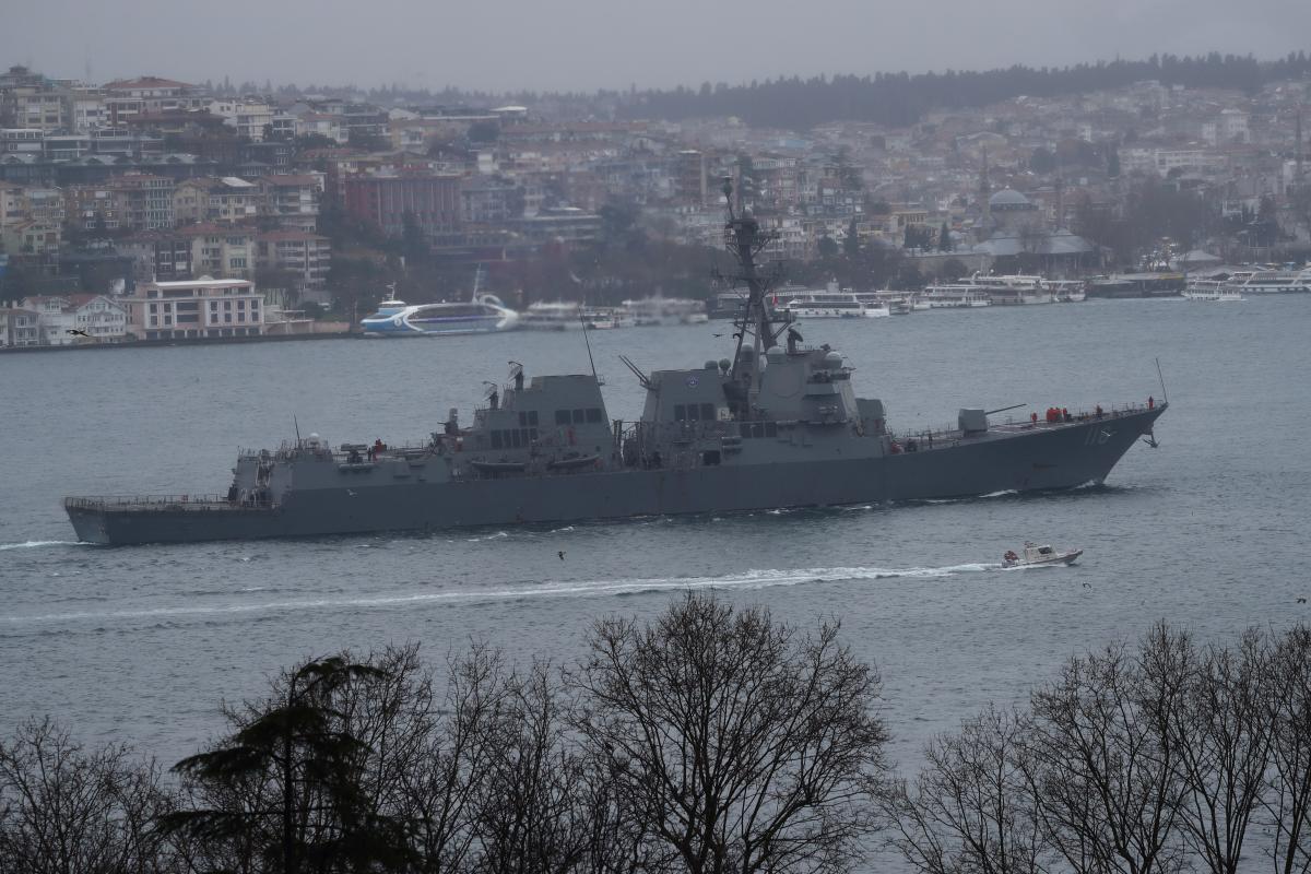 土耳其外交部:美国军舰将通过土耳其海峡前往黑海