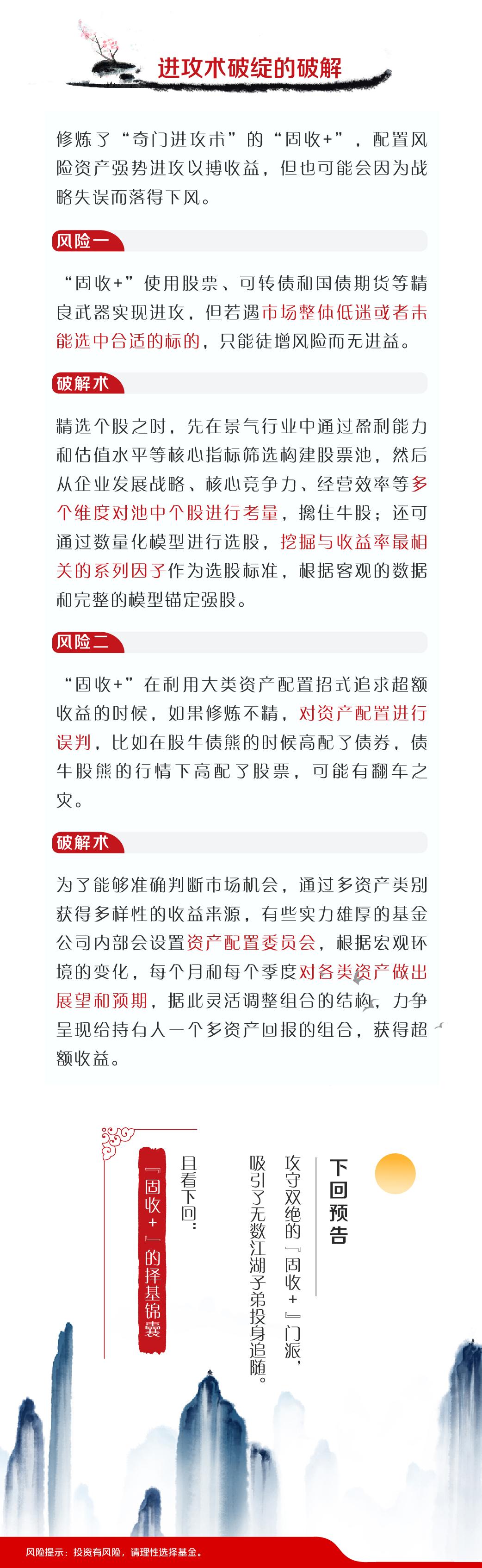 """『基金江湖风云录』初识""""固收+""""篇——""""固收+""""的风险破解法"""