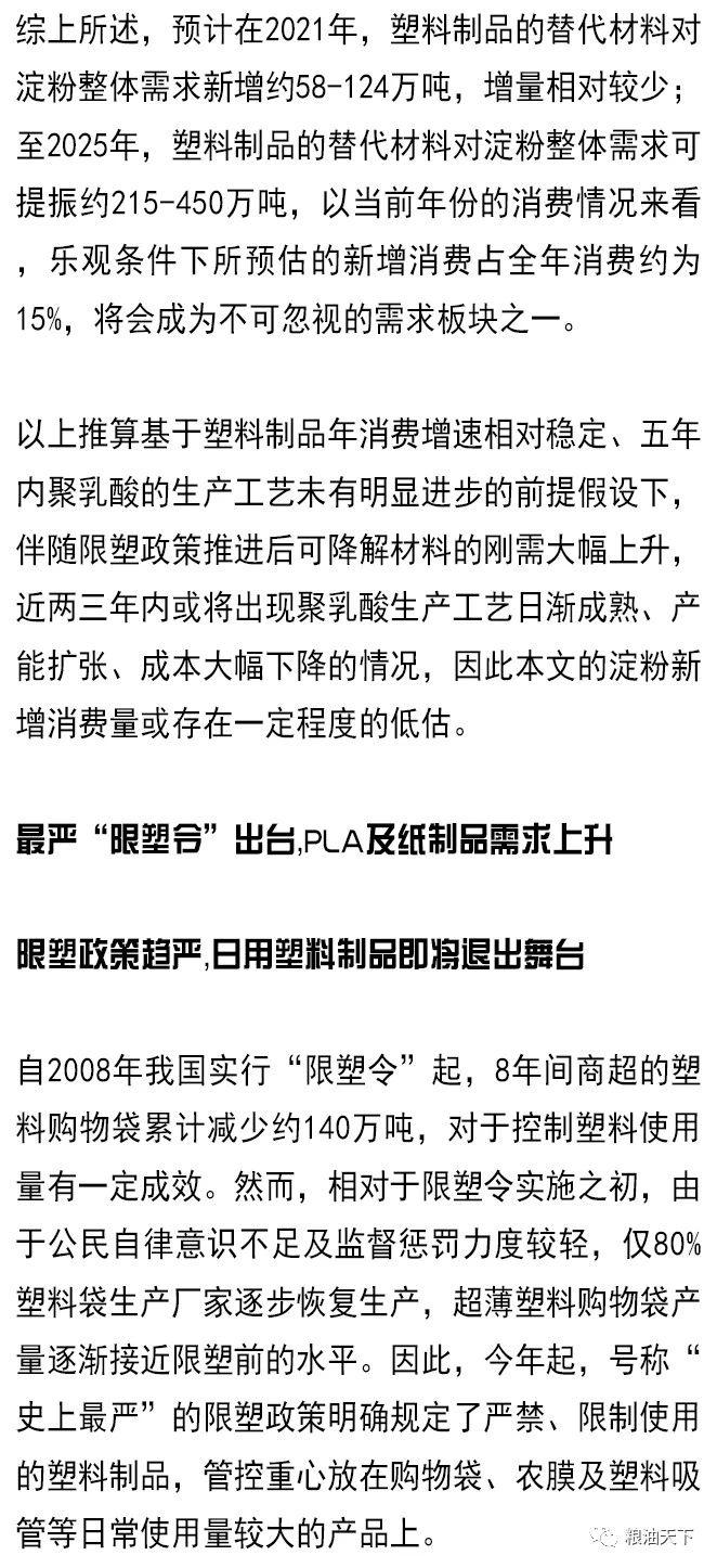 """""""限塑令""""玉米淀粉下游产业格局生变?"""