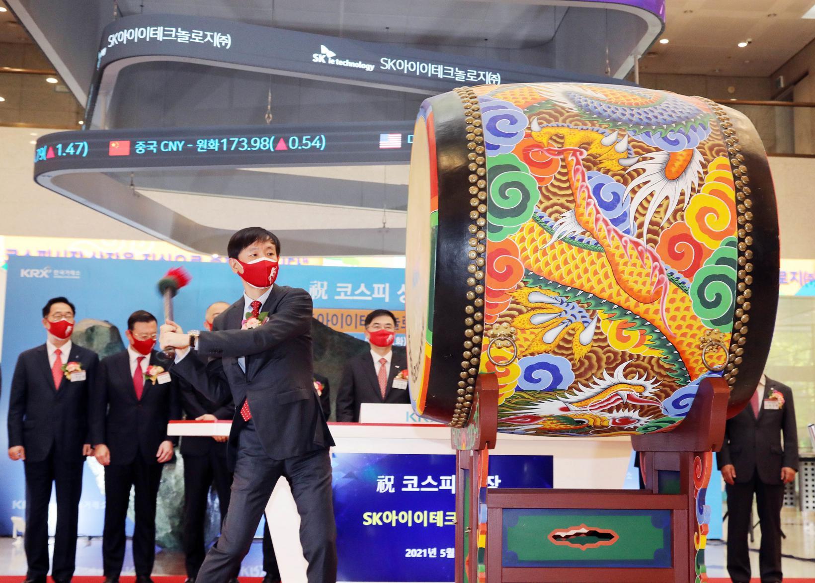 SK电池隔膜公司上市首日股价翻倍,市值达11.8万亿韩元
