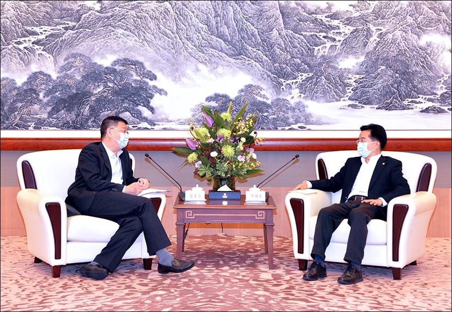 缪建民会见香港中企协会副会长兼总裁张夏令