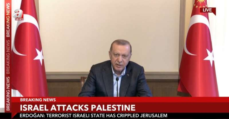"""土耳其总统:对""""恐怖主义国家""""以色列感到愤怒"""
