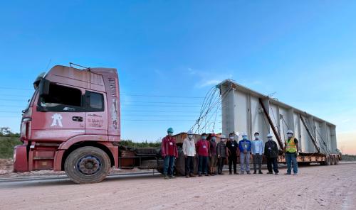 中远海运顺利完成柬埔寨西港电站项目首批大件运输任务