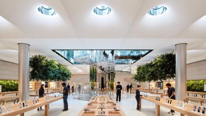 尽管美国其他零售商放宽限制 但Apple Store继续执行戴口罩规定