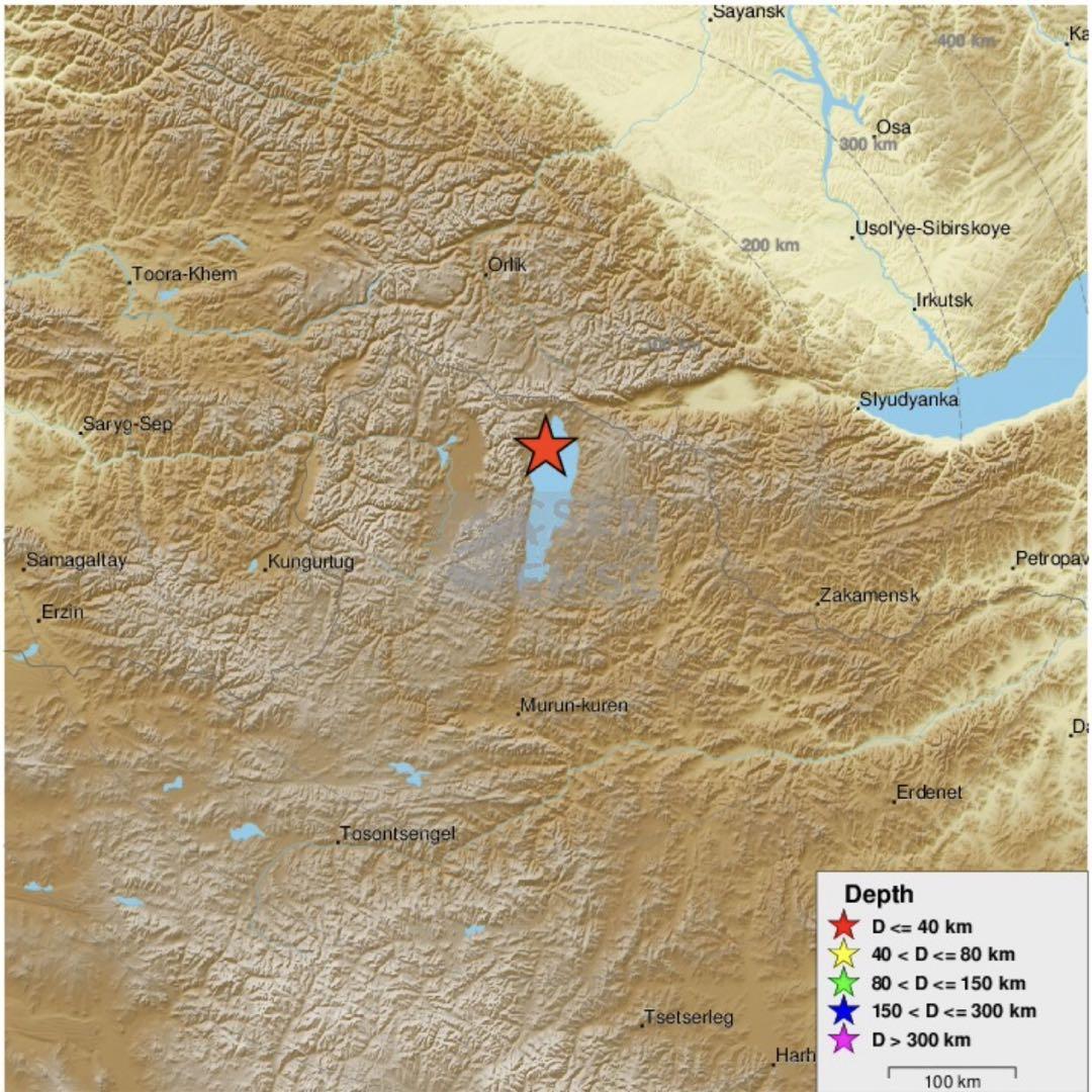 蒙古国库苏古尔省发生4.0级地震