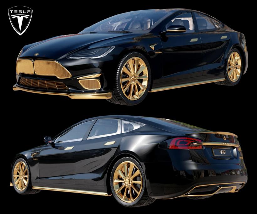 Caviar 定制特斯拉 Model S 限量版 iPhone 12 Pro 以及汽车