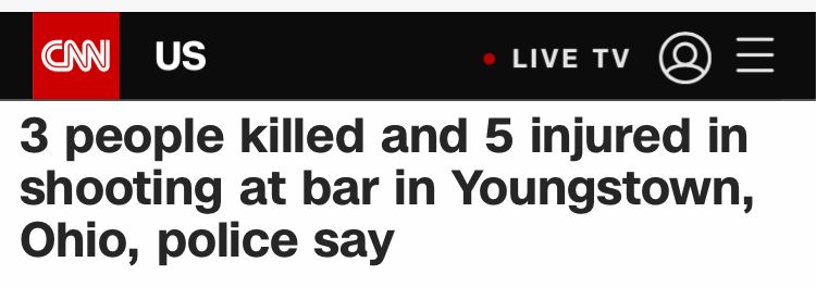 美国俄亥俄州发生枪击事件 致3死5伤