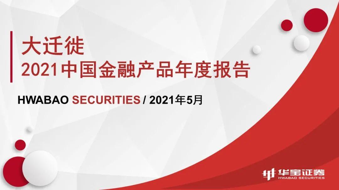 《2021中国金融产品年度报告--大迁徙》全文首发!