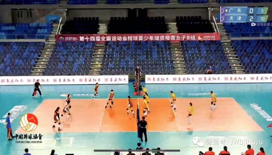 全运会预赛3-0广东 天津青年女排小组赛全胜晋级