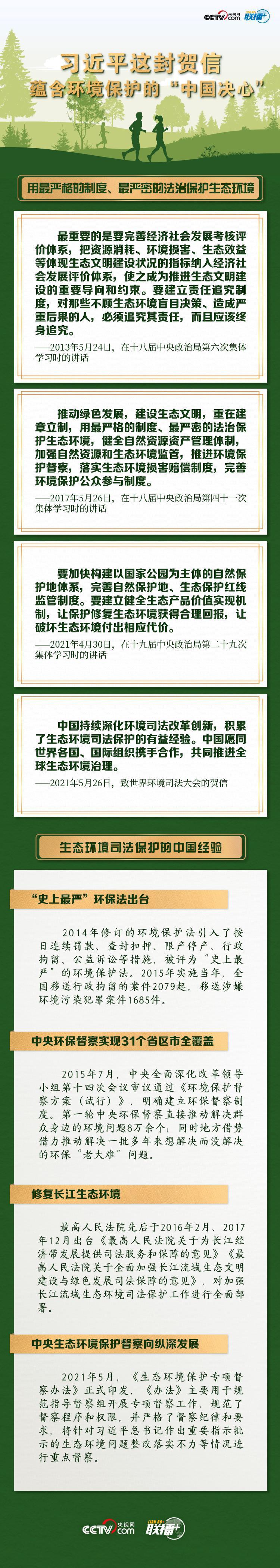 """习近平这封贺信 蕴含环境保护的""""中国决心""""图片"""