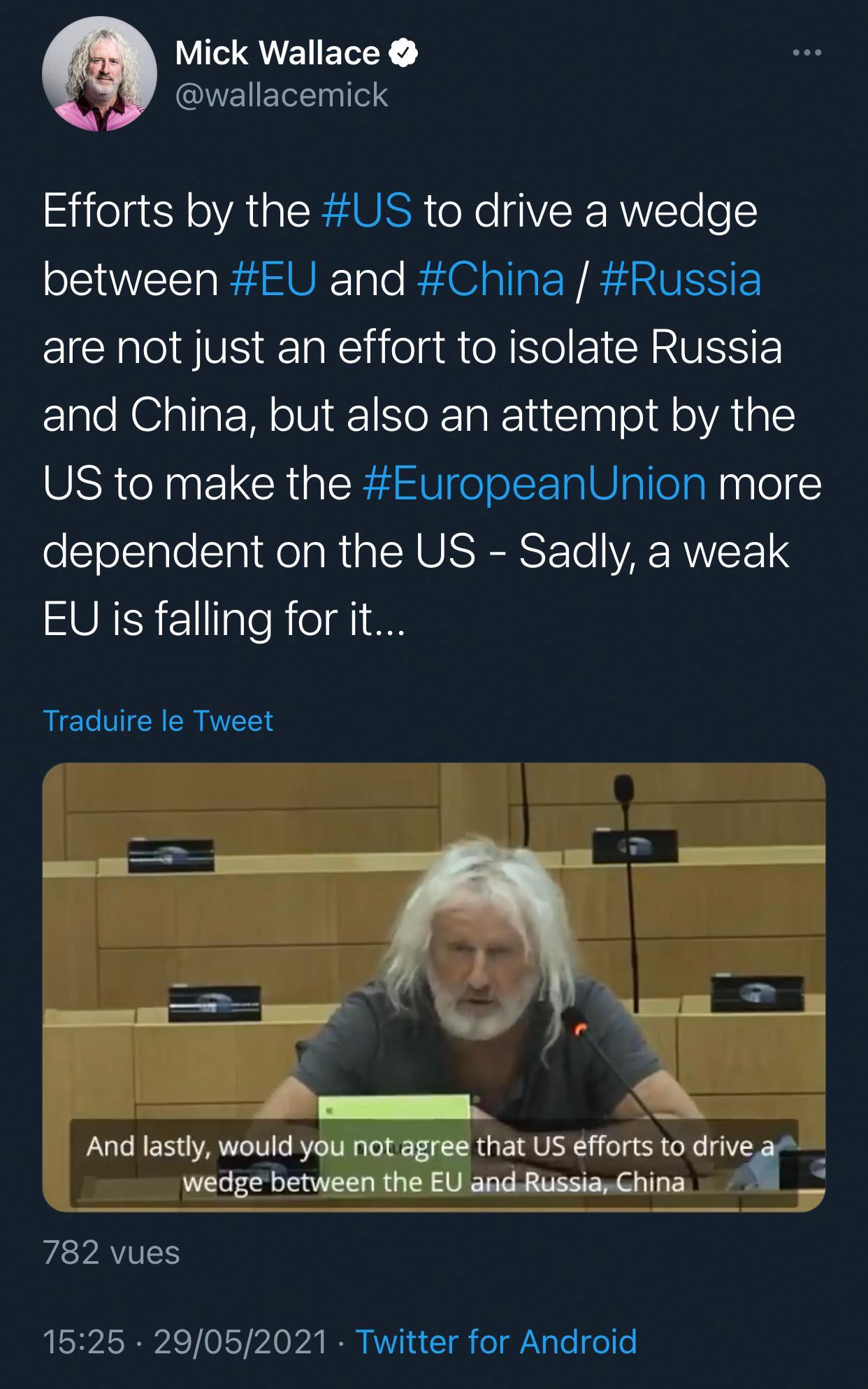欧洲议会议员呼吁欧盟在对华关系上保持独立