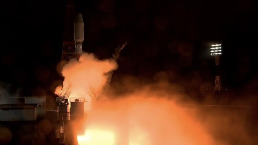 俄罗斯联盟火箭成功发射 搭载36颗通信卫星