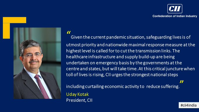 印度经济界主动提出:政府应限制经济活动、控制疫情