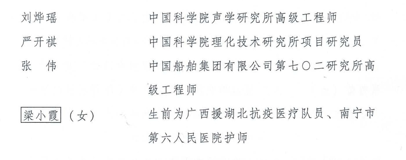 """广西援鄂护士梁小霞被追授""""中国青年五四奖章""""图片"""