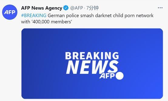 德国警方捣毁一含40万会员的儿童色情暗网平台