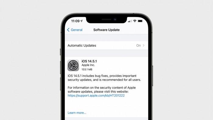 苹果发布iOS和iPadOS 14.5.1 修复应用跟踪透明度选项变灰的问题
