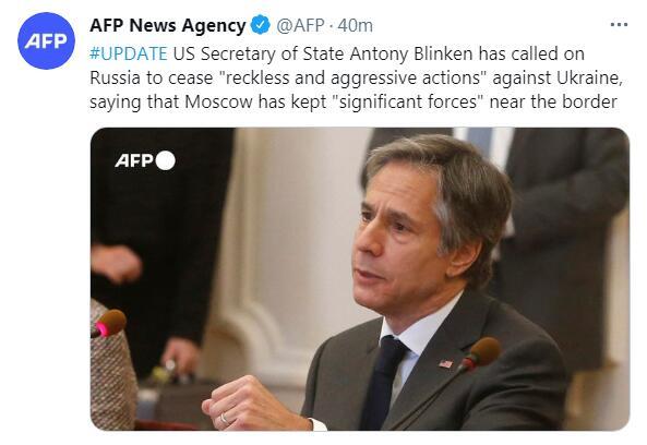 美国务卿与乌克兰总统会面 议题焦点果然是俄罗斯